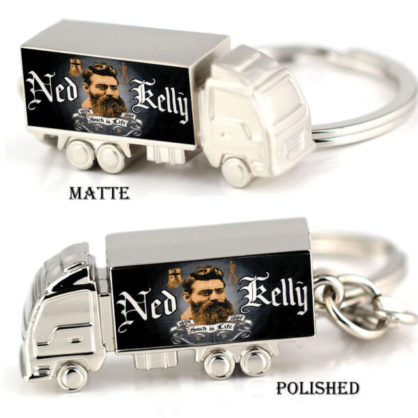NED AND KELLY zinc alloy truck keyring