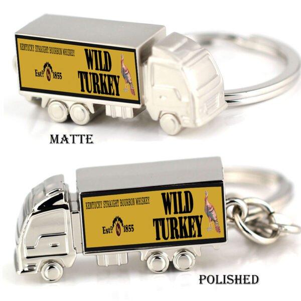 Wild Turkey zinc alloy truck keyring