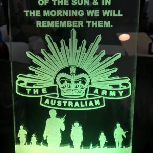 The Australian Army Led Sign