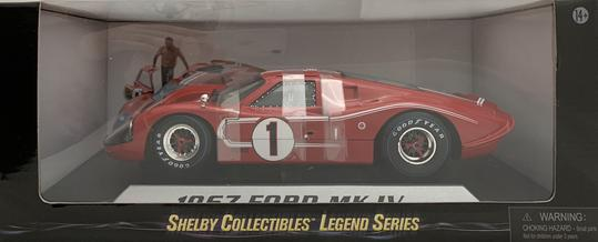 1:18 Ford Shelby 1967 MK IV (Red)
